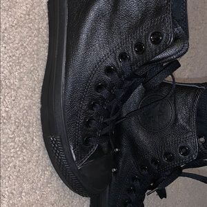 All black converse. New, never been worn